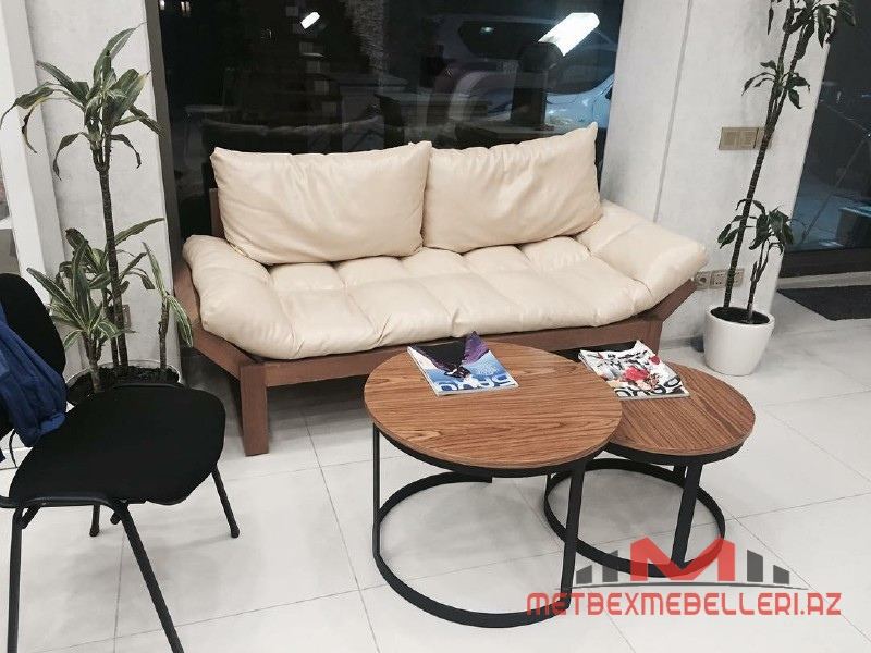 Ofis mebeli - Ofis üçün divan və lurnal stolu